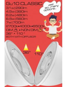 Λάμπα LED Ε27 6,2w A60 Fillament Milky