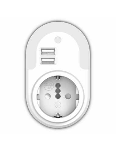 Φωτάκι νυκτός με φωτοκύτταρο 2 USB +...