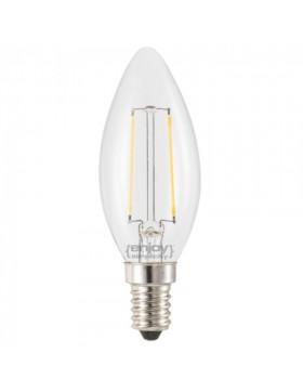 Λάμπα LED Β35 κερί 3,4W E14 2700Κ διάφανη